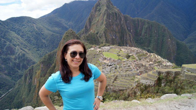 Juliana Ribeiro em Machu Picchu