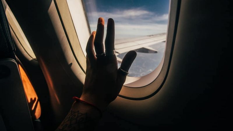 Foi por medo de avião