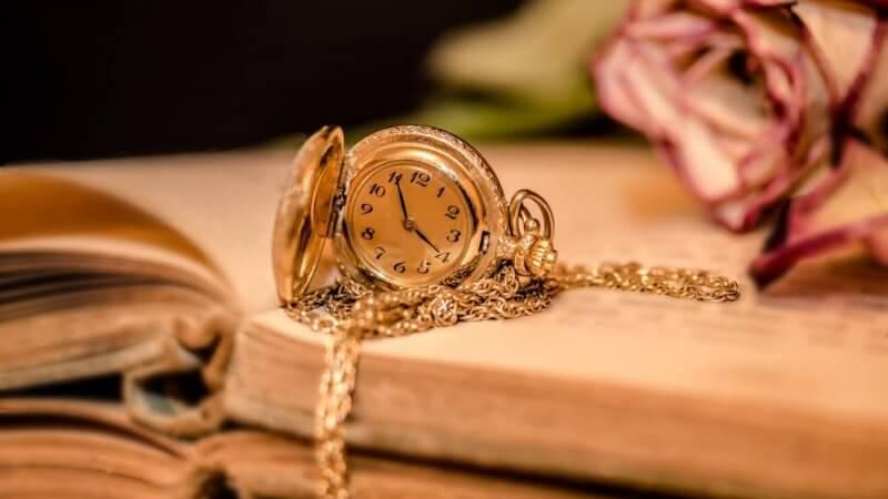 Foto de um relógio para texto sobre o tempo