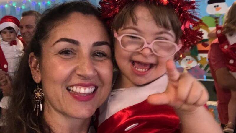 Filha de Amanda tem Síndrome de Down