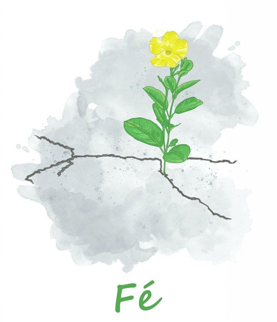 Ilustração de Elízeo Hamu para retirar Fé