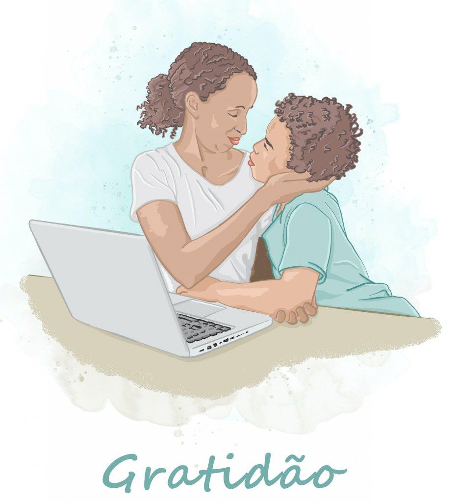 Ilustração de Elízeo Hamu para o blog Vida de Adulto fala de Gratidão
